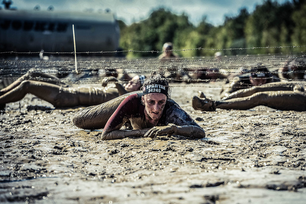 Spartan race Atlantique Super boue mud fille