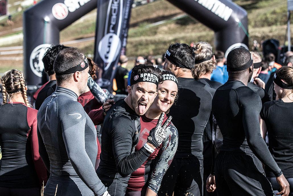 Spartan Race Atlantique, sas départ, Marc Derussit, Anne-Laure Bonjour Darling