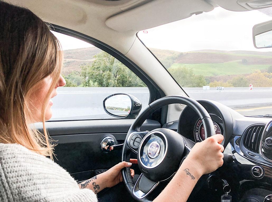 drivy location voiture fiat 500 drive driver conduite bordeaux france girl