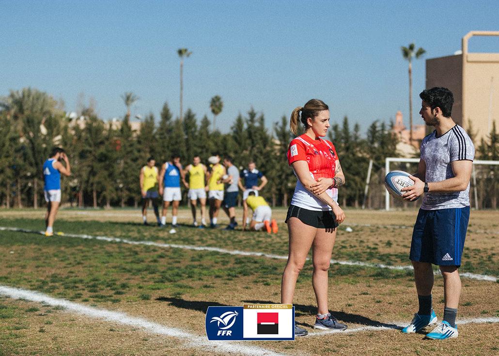 marrakech stage rugby equipe de france rugby à 7 par amour du rugby societe generale entrainement sport ballon joueur rugbymen training coach