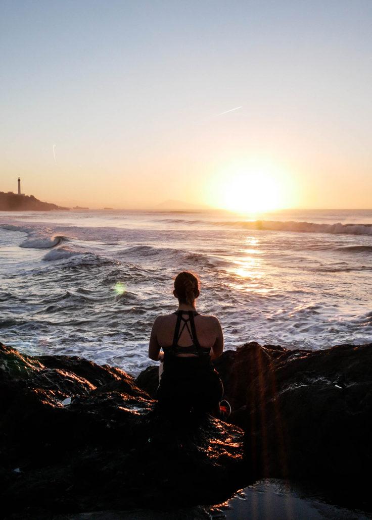 thalasso Sunset running anglet ocean vague sun soleil