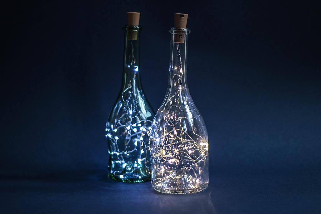 DIY Transforme ta bouteille de vin en lampe