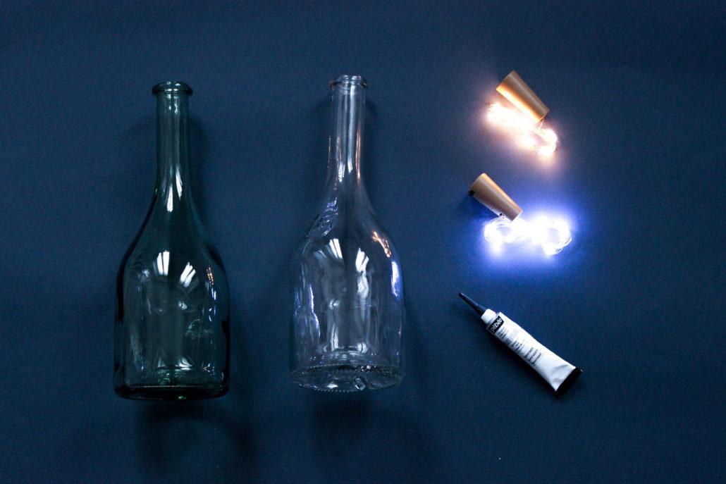 DIY tutoriel loisir créatif bouteille de vin JP CHenet light lumiere hobby déco