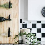 DIY tutoriel loisir créatif bouteille de vin JP CHenet mur rangement hobby déco