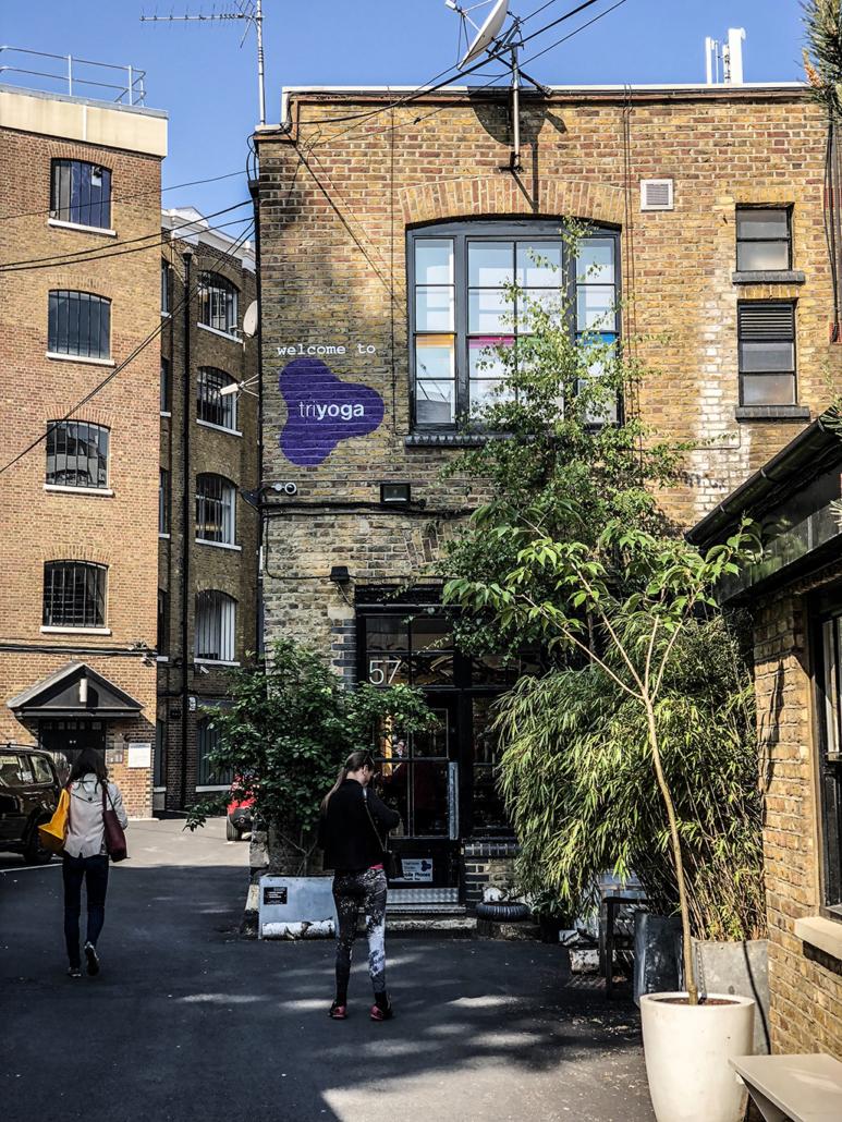 Yoga Triyoga Londres London class studio cours débutant easy test avis bonne adresse touriste