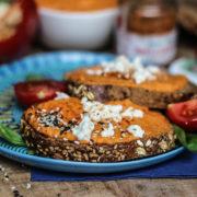houmous pois chiche poivron rouge piment espelette recette facile délice végétarien veggie vegan