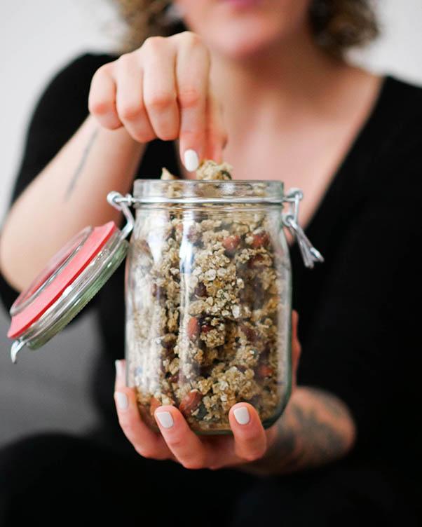 Granola recette recipe vegetarien veggie facile video almond amande flocon avoine oat