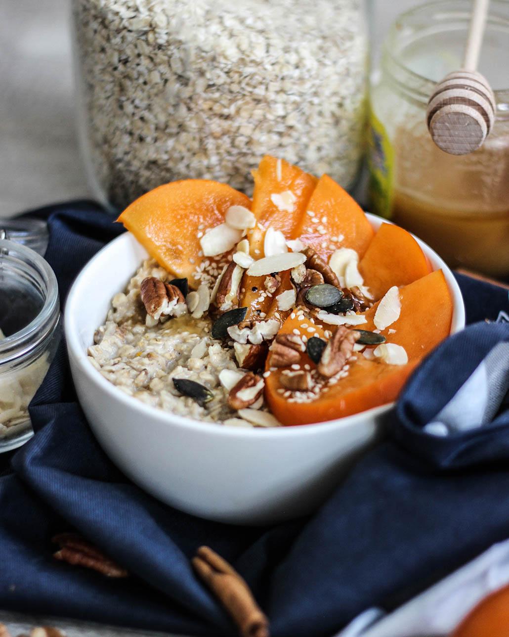 recette, recipe, porridge, flocons d'avoine, lait, vegan, rapide, chai