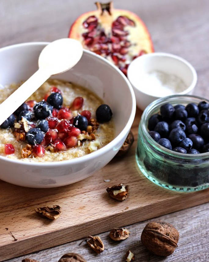 recette, recipe, porridge, flocons d'avoine, lait, vegan, rapide, coco