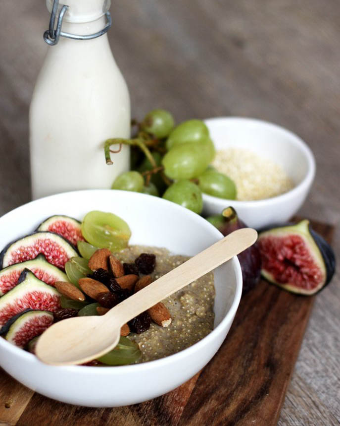 recette, recipe, porridge, flocons d'avoine, lait, vegan, rapide, quinoa