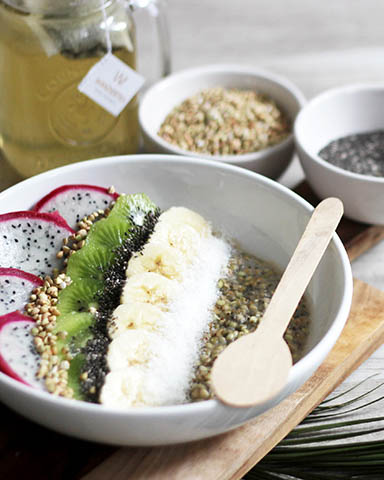 recette, recipe, porridge, flocons d'avoine, lait, vegan, rapide, sarrasin
