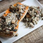 recette recipe easy facile végétarien vegetarian butternut farcie parmesan quinoa courge saison hiver