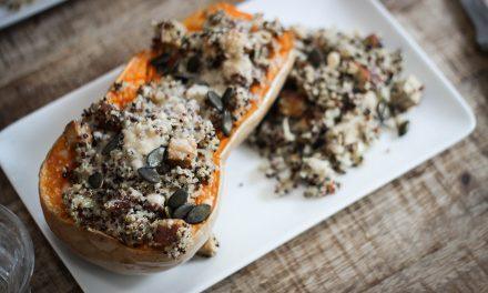 #LaMinuteDarling – Courge butternut farcie au quinoa