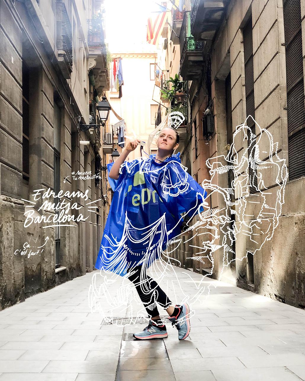 Barcelone Barcelona Semi-Marathon eDreams Mitja Barcelona Course Run Running Semi-Marathon Espagne CR