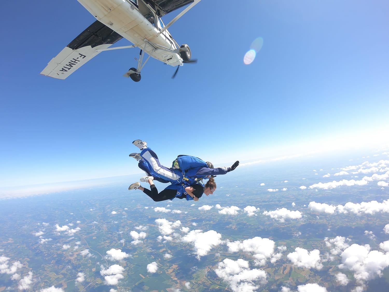 Cap Adrenaline - Mon baptême de saut en parachute en tandem