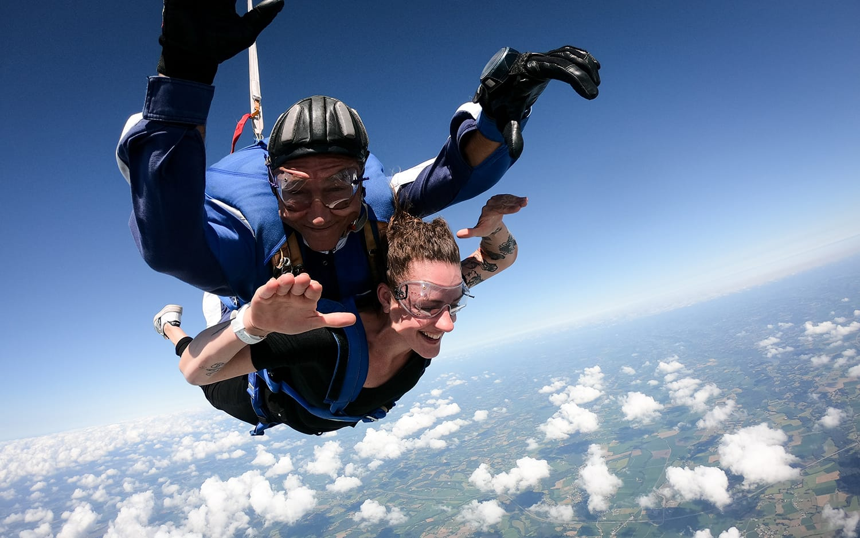 Saut en parachute et baptême de l'air en ULM avec Cap Adrénaline