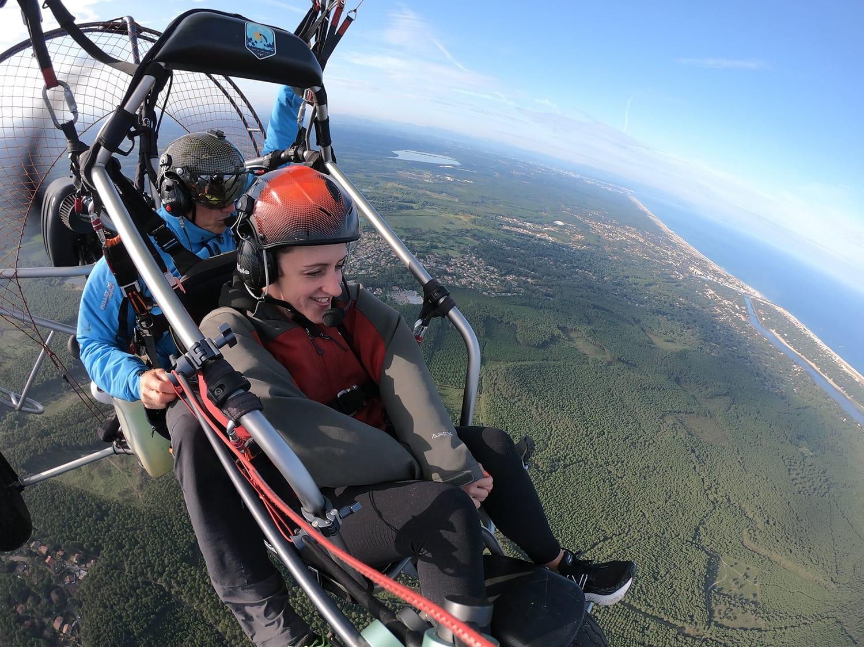 Cap Adrenaline - Mon baptême de l'air en ULM paramoteur à Capbreton Hossegor
