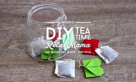 DIY Sachets de thé origami d'amour