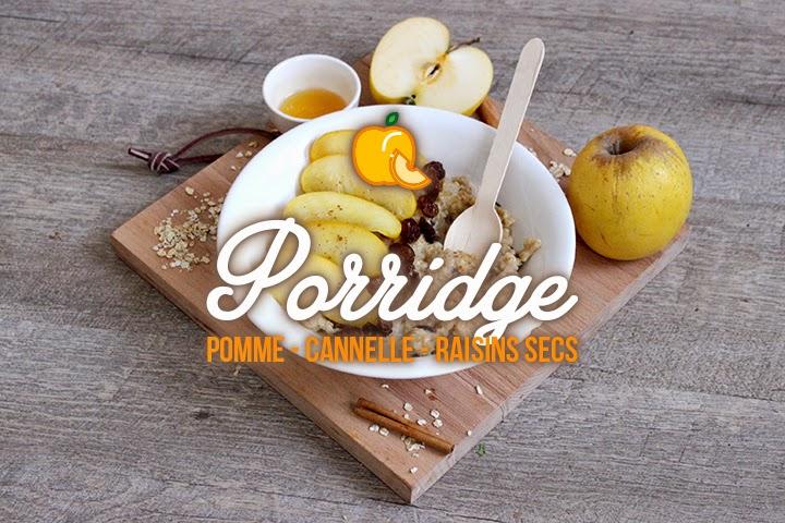 Porridge Pomme au miel – Cannelle et Raisins secs