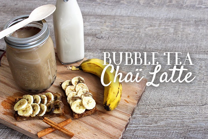 Chaï Latte façon bubble tea