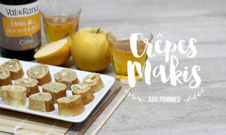 Crêpes façon Makis pomme et tapioca