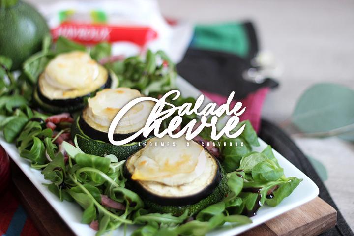 Salade de chèvre et toasts de légumes