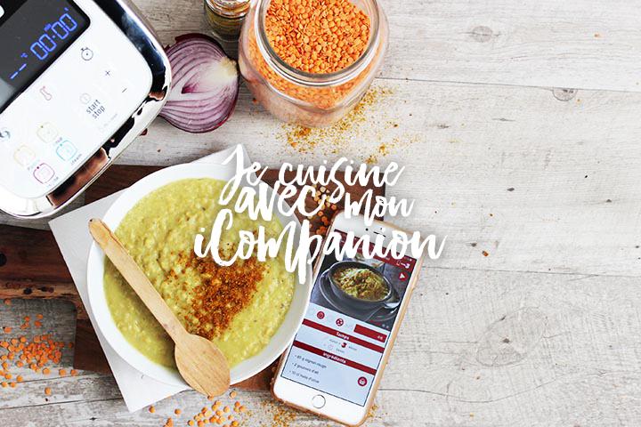 Recette curry aux lentilles corail avec le iCompanion
