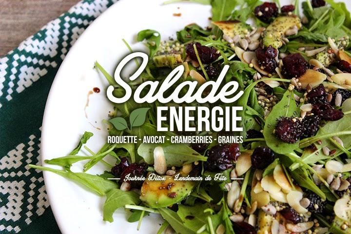 Ma journée «Lendemain de fête» #2 : La salade du midi