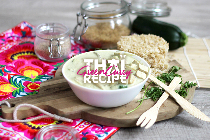 Green curry végétarien