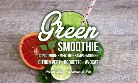 Ma journée «Lendemain de fête» #1 : Le Green Smoothie du matin