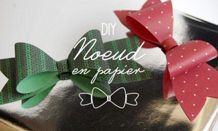 DIY Joli Noeud en papier pour joli paquet cadeau