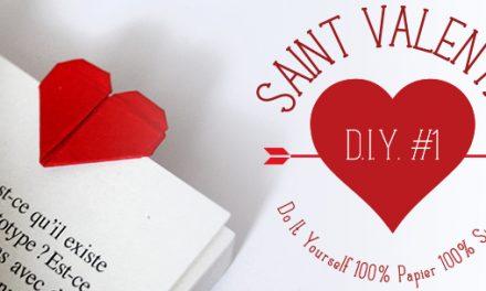 DIY St Valentin #1 : Marque page coeur en origami