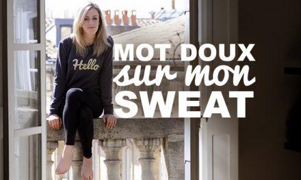 DIY Un mot doux sur mon sweat