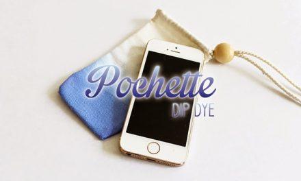 DIY Pochette de téléphone Dip Dye