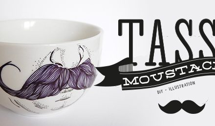DIY Tasse moustache