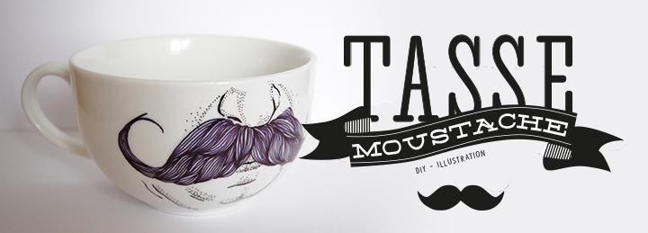 diy tasse moustache bonjour darling. Black Bedroom Furniture Sets. Home Design Ideas