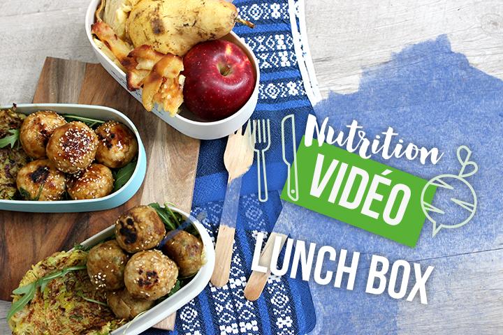 Lunch-box : Boulettes, galettes et gâteau invisible