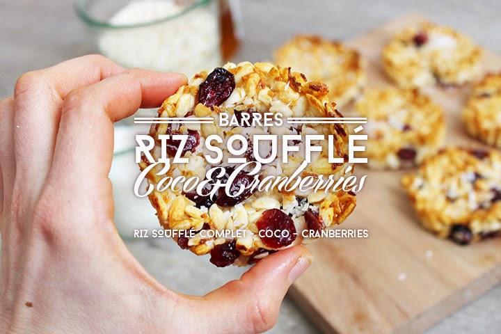 Galette riz soufflé coco & cranberries