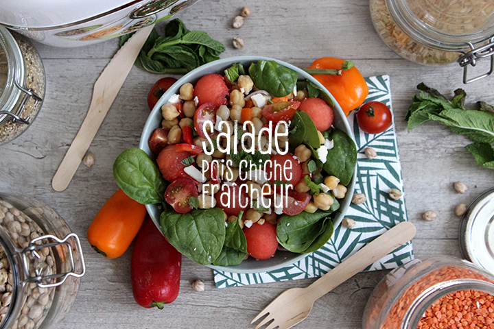 Recette de salade  de pois chiche & fraîcheur