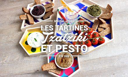 Tartines #2 : Pesto et Tzatziki