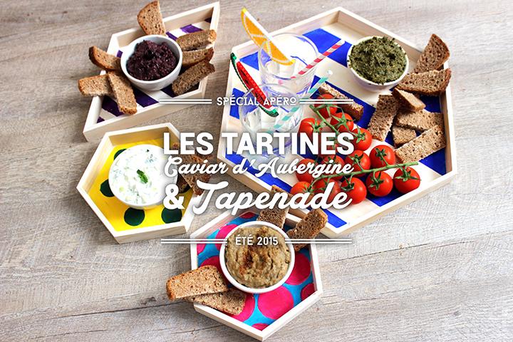 Tartines #1 : Caviar d'aubergine et Tapenade
