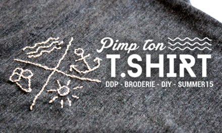 DIY Joli T-shirt brodé