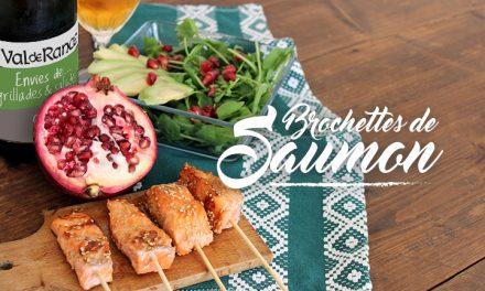 Brochettes de saumon caramélisées